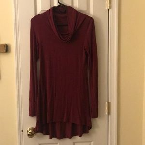 Cuddl duds wine color tunic. Xs